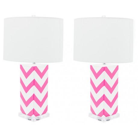 Lámpara de Mesa Cerámica Cécile Blanca y Rosa LAMPARAS 49,99 €