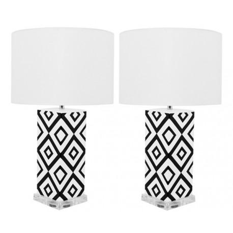 Lámpara de Mesa Cerámica Claire Blanca y Negra LAMPARAS 49,99 €