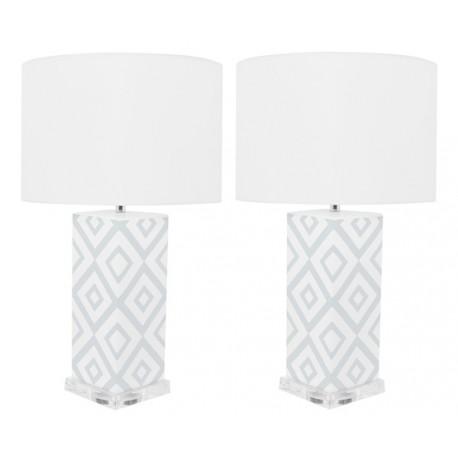 Lámpara de Mesa Cerámica Claire Blanca y Gris LAMPARAS 49,99 €