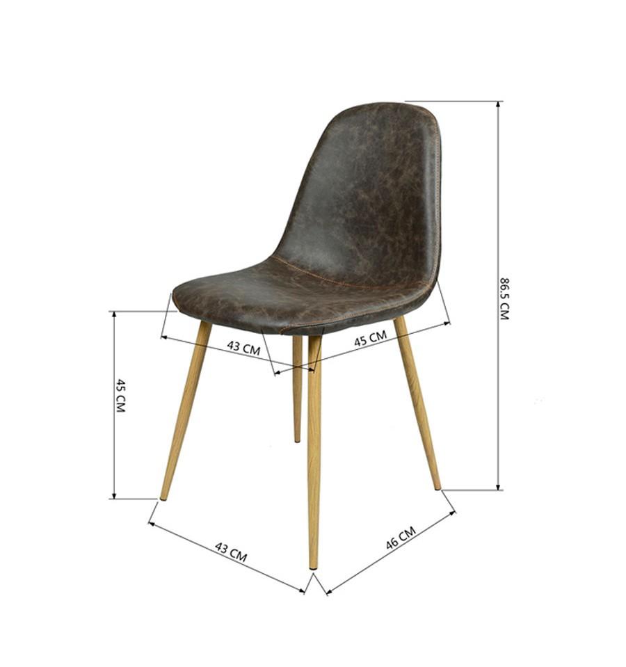 Nueva silla de dise o vintage marr n estilo eames env o for Sillas de diseno online