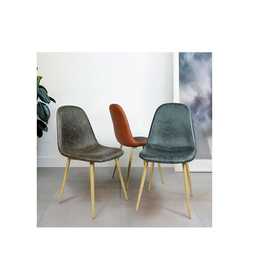 nueva silla de dise o vintage marr n estilo eames env o