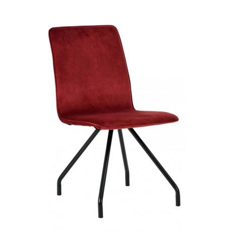 Silla de Terciopelo Roja Burdeos Cleo Sillas modernas de diseño 34,99 €