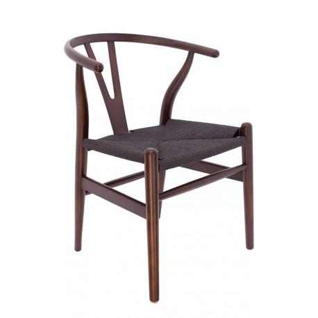 Silla de Madera Toscana CH24 Hans Wegner nogal/ enea negra Sillas de madera 129,99 €