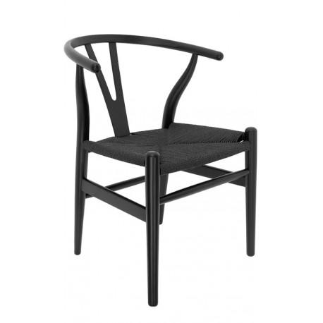Silla de Madera Toscana CH24 Negra / Enea Negra Sillas de madera 149,99 €