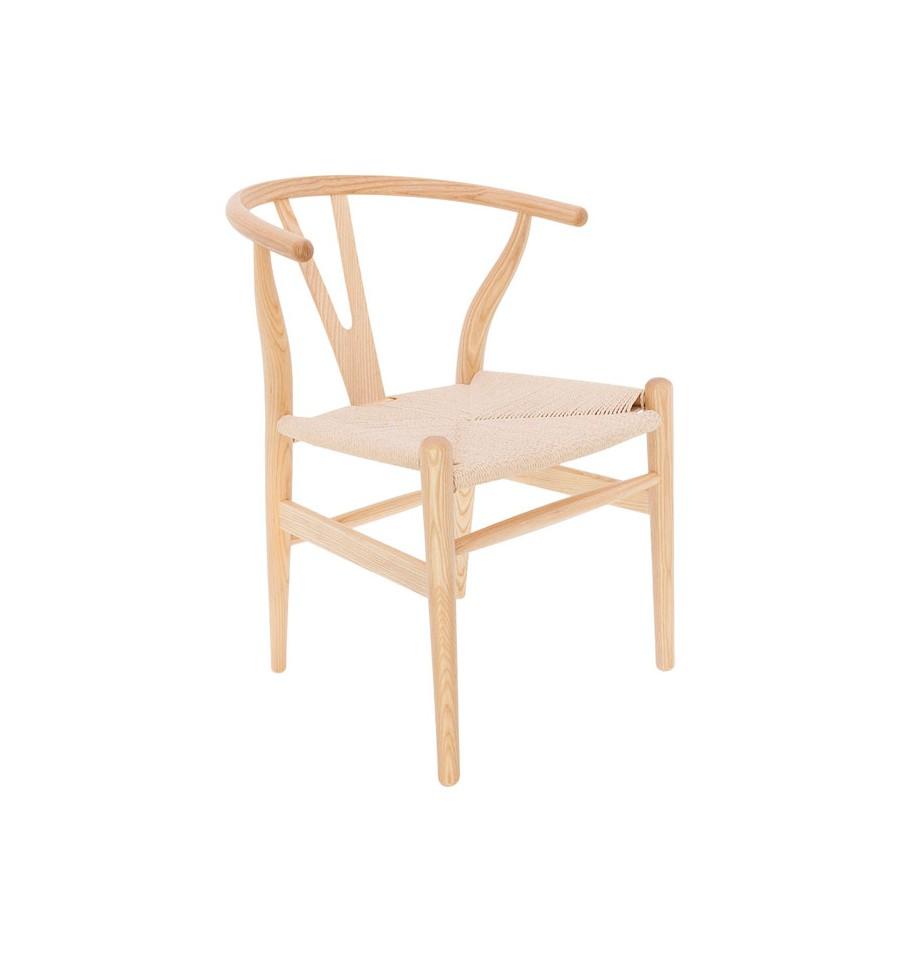 Silla toscana alta calidad inspiraci n wishbone chair de for Sillas altas de madera