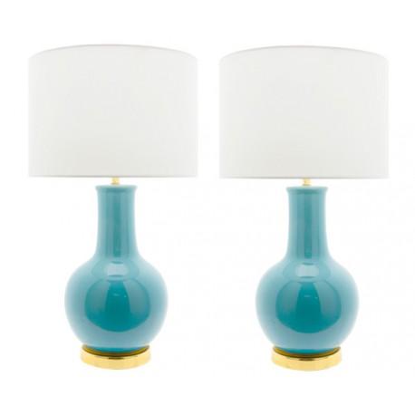 Lámpara Cerámica de Mesa Azul Turquesa Nicolle LÁMPARAS DE MESA 49,99 €
