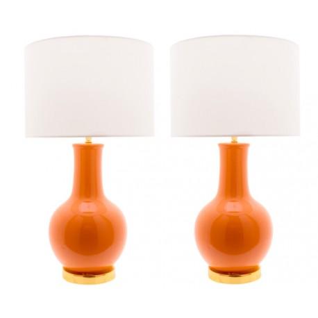 Lámpara Cerámica de Mesa Naranja Nicolle LÁMPARAS DE MESA 49,99 €