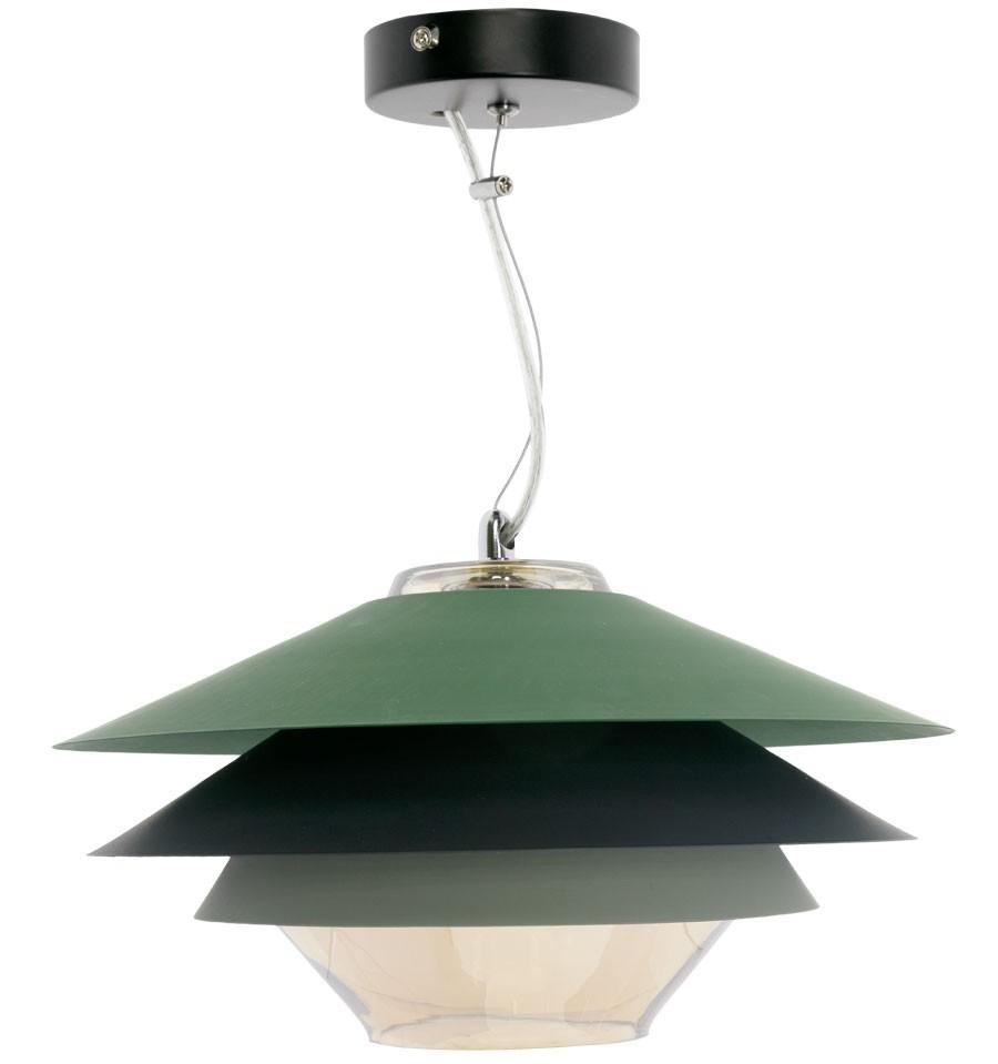 L mpara de techo moderna verde cromo pier env o gratuito - Lamparas de techo ...