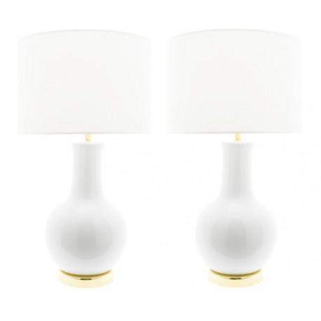 Lámpara Cerámica de Mesa Blanca Nicolle