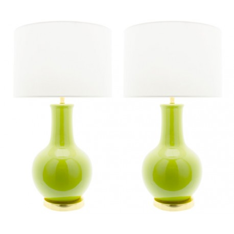 Lámpara Cerámica de Mesa Verde Nicolle LÁMPARAS DE MESA 49,99 €