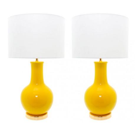 Lámpara Cerámica de Mesa Amarilla Nicolle