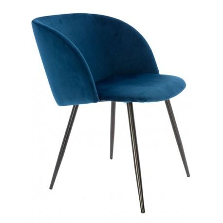 Sillón de Terciopelo Azul Vintage Piaf Sillones de Terciopelo 64,99 €