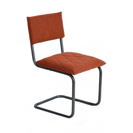 Silla de Diseño Naranja tipo Bauhaus Francesca