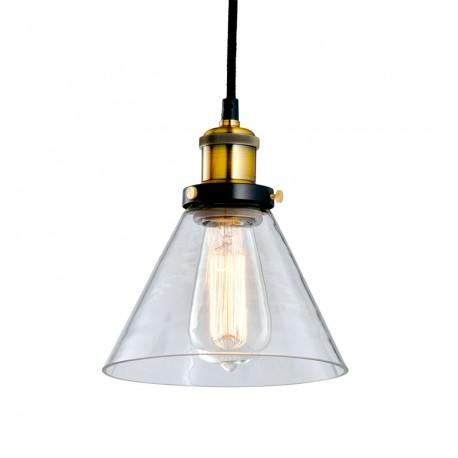 Lámpara de Techo de Cristal y Latón Cloche LAMPARAS