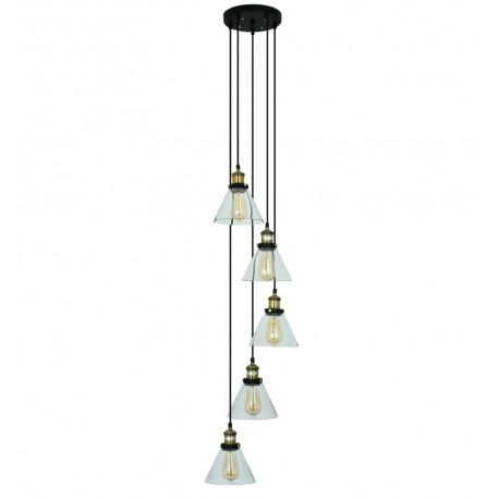 Lámpara de Techo de Cristal y Latón Bow 5 Elementos LAMPARAS 129,99 €