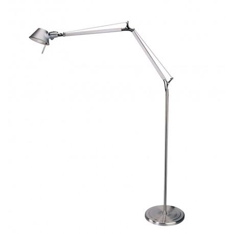 Lámpara de Pie de Diseño Bauhaus Plateado LÁMPARAS DE PIE