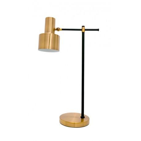 Lámpara de Mesa Metálica Dorada estilo Vintage