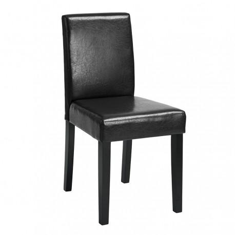 Silla Moderna Polipiel Negra Samu Sillas modernas de diseño 24,99 €