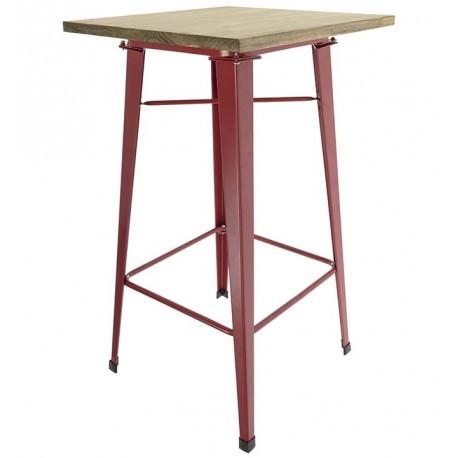 Mesa tolix alta con tapa de madera Mesas de comedor de diseño 149,99 €