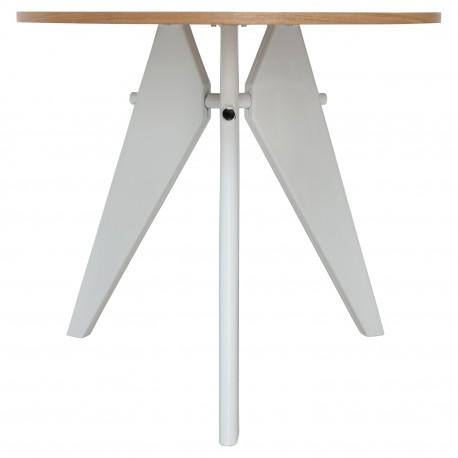 Mesa de comedor base de madera y patas blancas Mesas de comedor de diseño 169,99 €