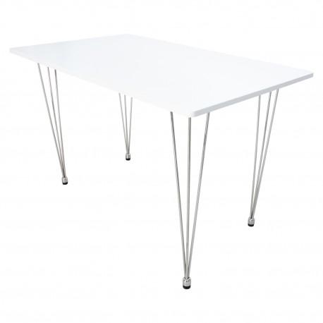 MESA RECTANGULAR BLANCA Mesas de comedor de diseño 149,99 €