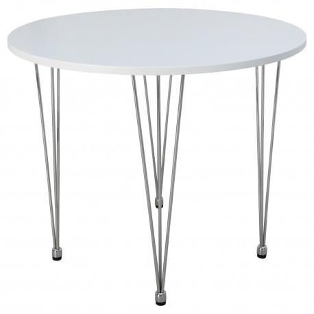 MESA REDONDA BLANCA Mesas de comedor de diseño 119,99 €