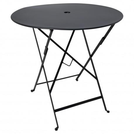 Mesa Negra exterior plegable Mesas de comedor de diseño