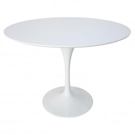 Mesa lacada en blanco tulip Mesas de comedor de diseño