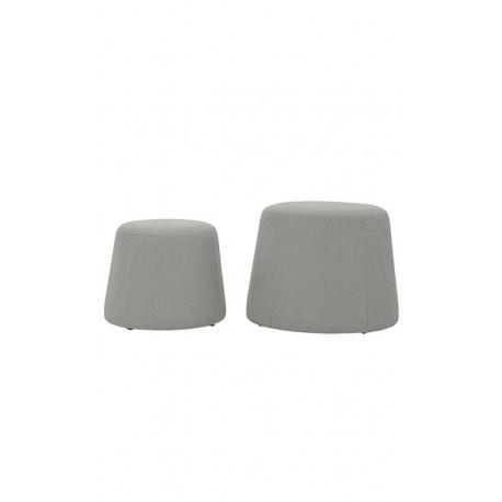 Pufs tapizado gris 2 tamaños PUFF ECLECTICOS 59,99 €