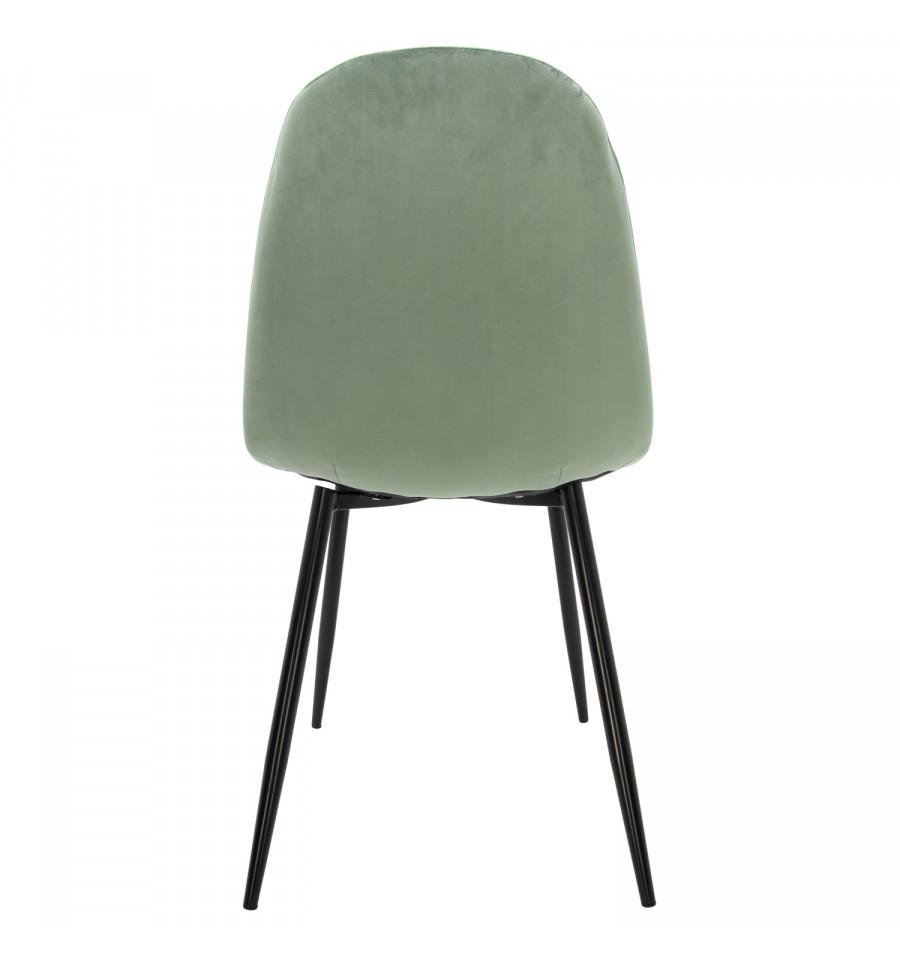 Nueva silla de terciopelo verde ada con patas negras env o gratuito - Sillas colgantes baratas ...