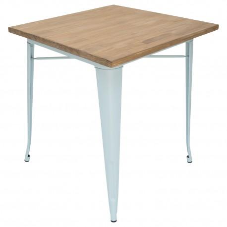 Mesa de comedor tolix patas azules y tapa de madera Mesas de comedor de diseño 169,99 €