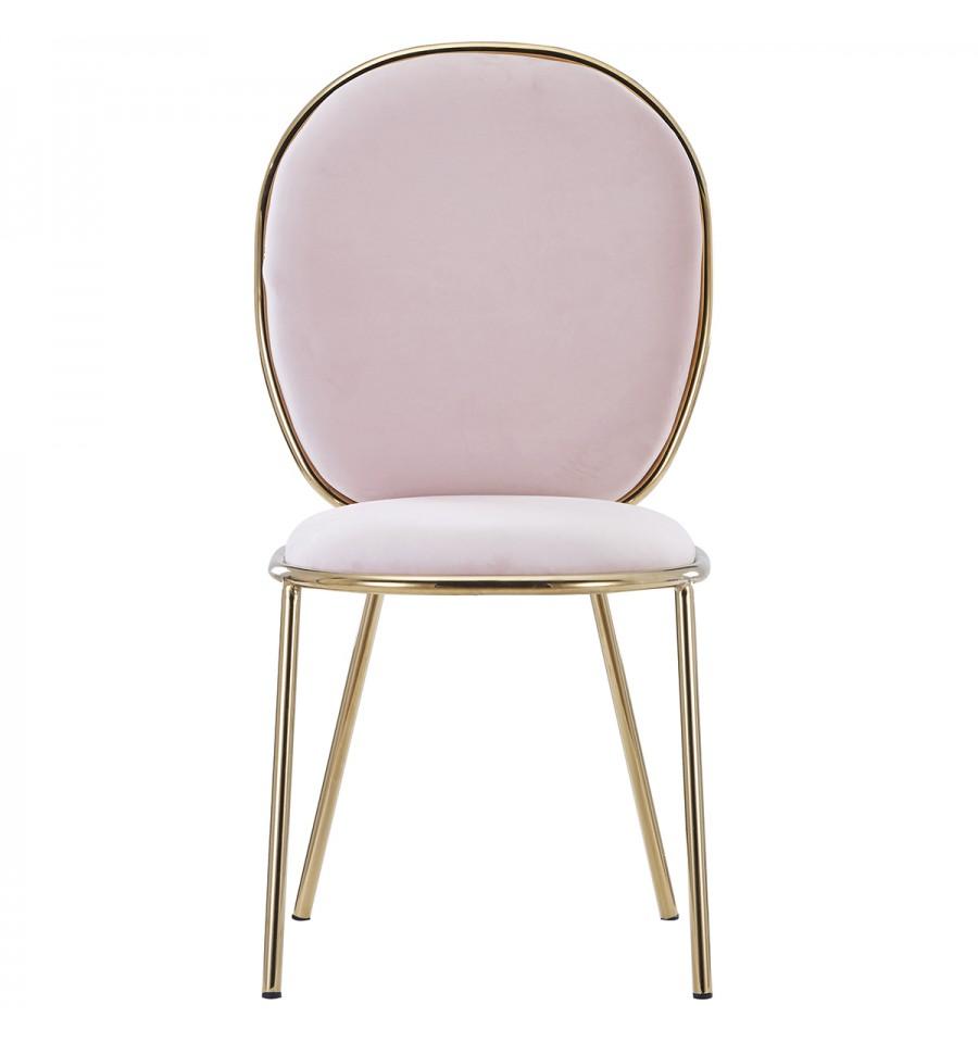 sillas rosa terciopelo barata