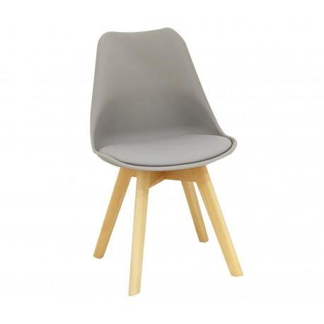 Silla Kandem Cross Gris con patas de madera Sillas modernas de diseño