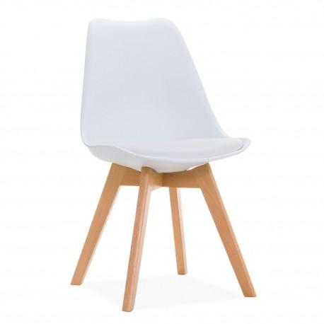 silla pata blanca cuadrada