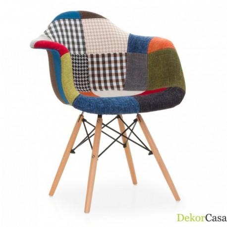 Pack de 2 sillones IMS con patas de madera y pachtwork Sillas modernas de diseño 99,99 €