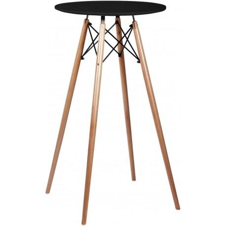 Mesa Alta hostelería en negro con patas madera Mesas de comedor de diseño