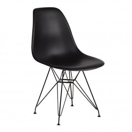 Pack 4 sillas negra patas negras\n\n IMS modelo eiffel Sillas modernas de diseño
