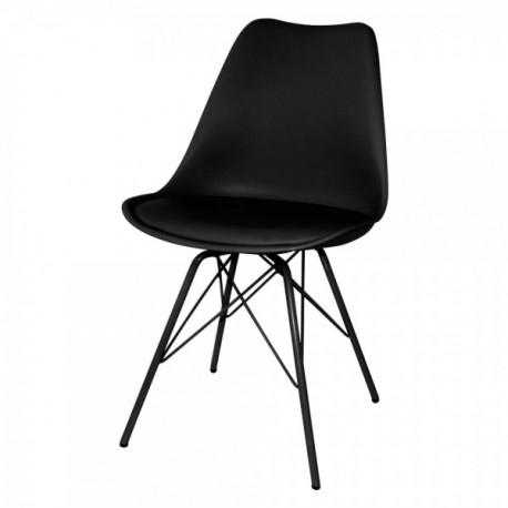 Pack de 2 sillas Nori negras\ncon patas de metal en negro\n Sillas modernas de diseño 69,99 €