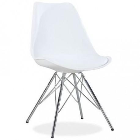 Pack de 2 sillas blancas con patas cromadas modelo Tilhi Sillas modernas de diseño 79,99 €