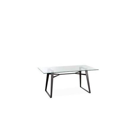 Mesa de tapa de cristal Mesas de comedor de diseño