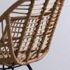 Sillon Klimanjaro en rattan con estrutura de metal SILLONES DE DISEÑO MODERNO