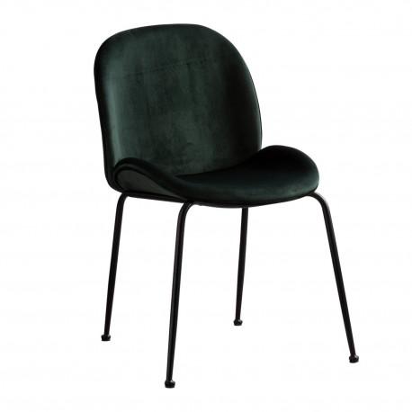 sillas mush verde patas negras Sillas modernas de diseño