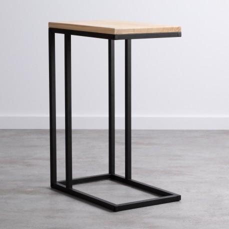 Mesa Auxiliar Yuma mini con base de metal y tapa d Mesas de comedor de diseño