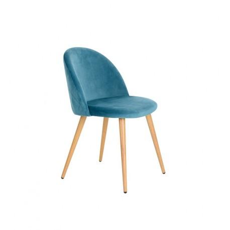 Pack de 2 Sillas de Terciopelo Azul Vintage Renard Sillas modernas de diseño