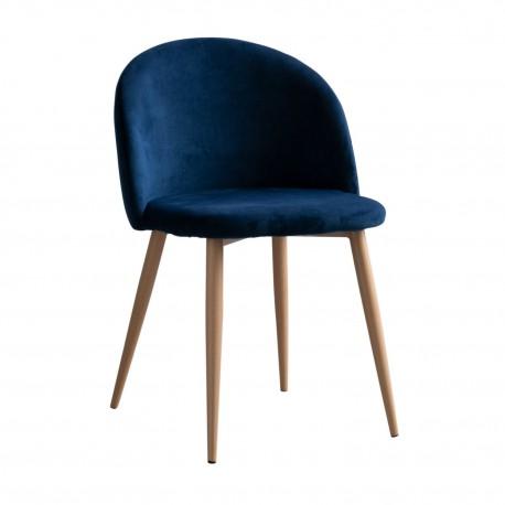 Silla de Terciopelo Azul Vintage Piaf Sillas modernas de diseño