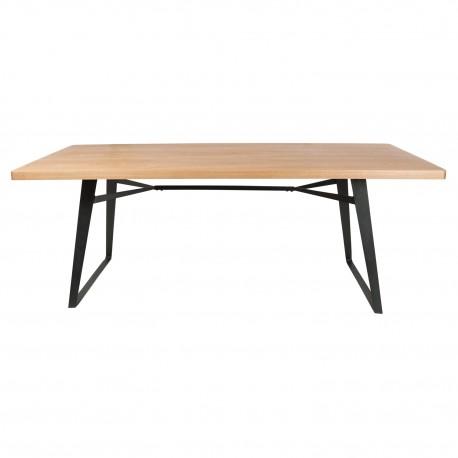 Mesa de comedor Janu con tablero madera de fresno y patas negras Mesas de comedor de diseño