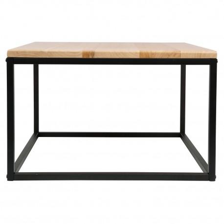 Mesa baja Yuma con tablero de madera y patas en metal negro Mesas de comedor de diseño