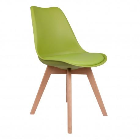 silla kandem verdes con patas de madera Sillas modernas de diseño
