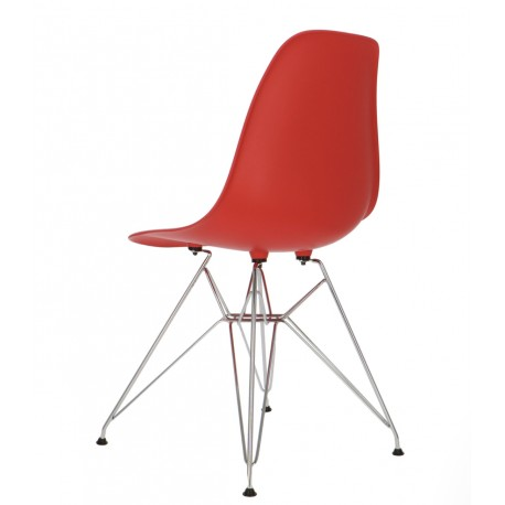 Pack 4 sillas rojo IMS modelo eiffelpatas cromadas Sillas modernas de diseño