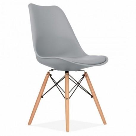 Pack de 2 Sillas gris patas de madera Kandem paris Sillas modernas de diseño